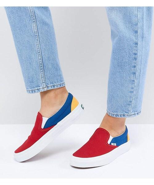 Vans,Vans Slip On Sneakers In Primary