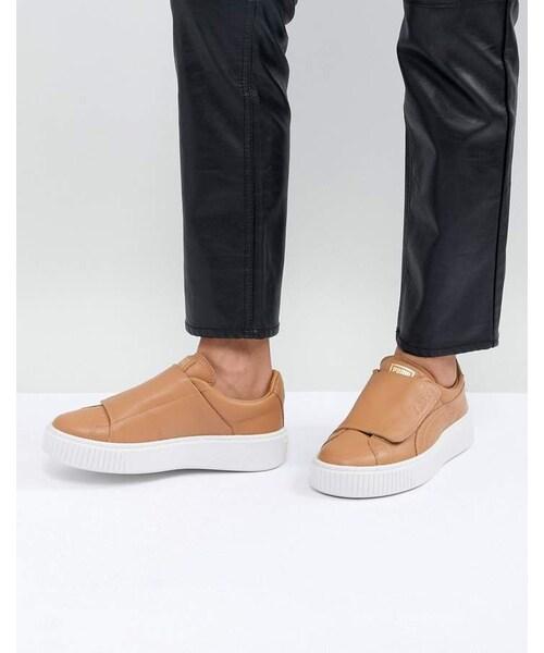 Puma Basket Platform Strap Sneaker in