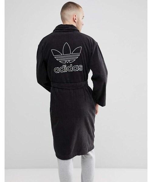Adidas ¢ディダス Á® Adidas Originals Adicolor Robe In Black Cf6934 ëームウェア Ñジャマ Wear
