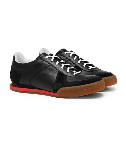 Grain Leather And Suede Sneakers - WEAR