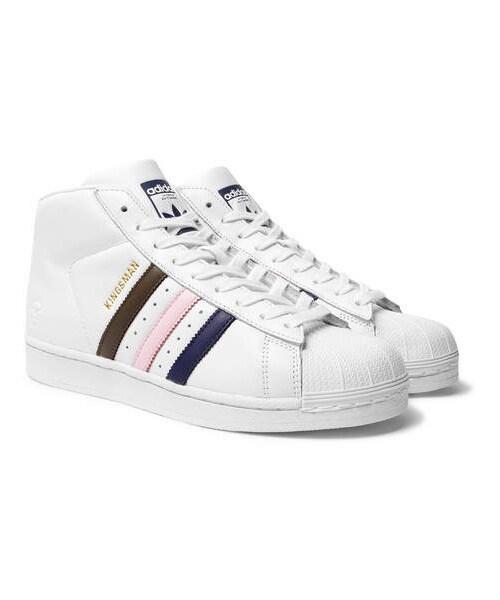 adidas superstar high top white