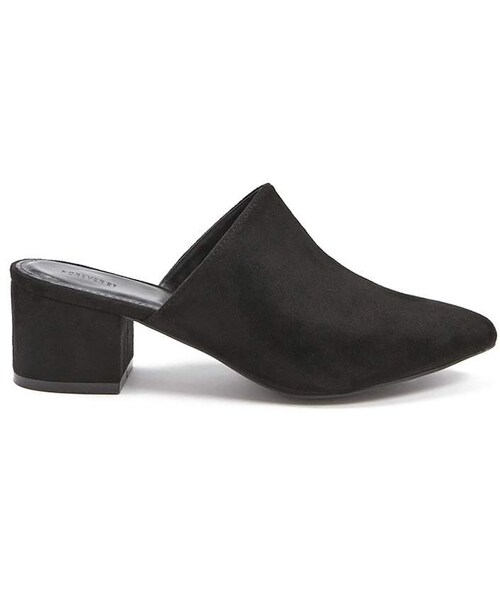 Faux Suede Pointed-Toe Mules - WEAR