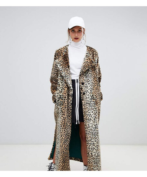 Lola Faux Fur Longline Leopard Print, White Long Line Faux Fur Zebra Print Coat