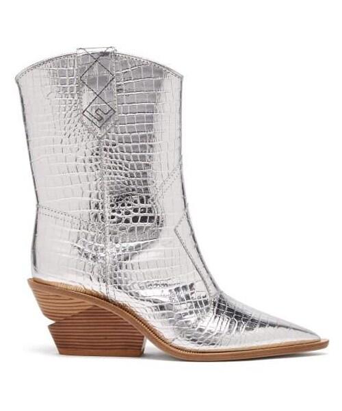 Cutwalk Crocodile Effect Leather Cowboy