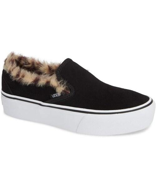 Vans Classic Faux Fur Slip-On Platform