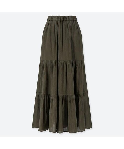 ティアード ロング スカート ユニクロ 【コスパ最強】ユニクロのギャザーロングスカート