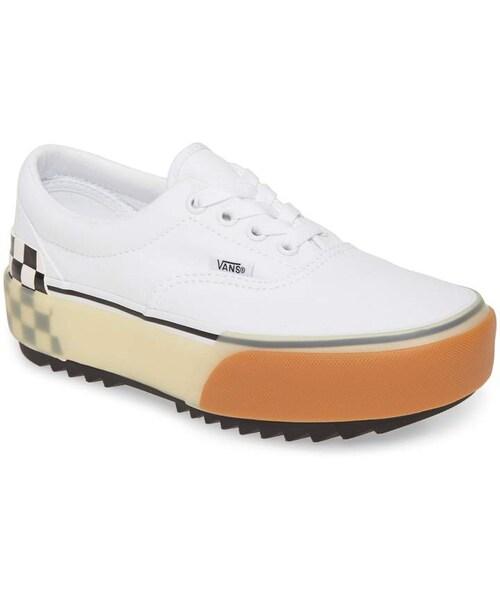 Vans Era Stacked Check Platform Sneaker