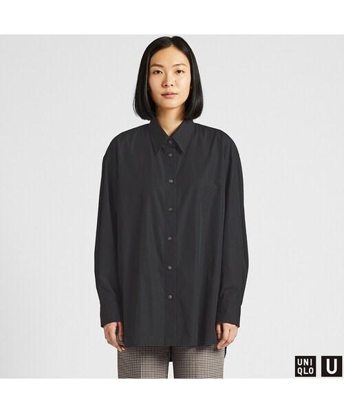 シャツ ユニクロ オーバー サイズ