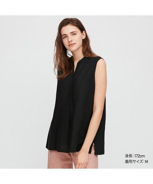 リネン ブレンド スキッパー シャツ