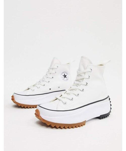 Converse Run Star Hike white sneakers
