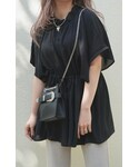 A.D.G | Butterfly Sleeve Sheer Tunic Blouse (black)(チュニック)