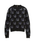 MAISON KITSUNÉ PARIS WOMEN メゾン キツネ | 【先行受注】FOX ALL OVER PULLOVER(ニット)