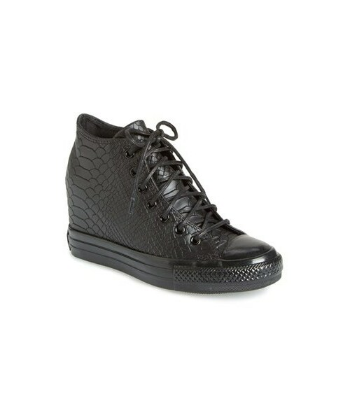 Embossed Reptile' Wedge Sneaker (Women