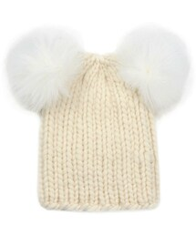8279a626d1af9 Eugenia Kim(ユージニアキム)の「Eugenia Kim Mimi Knit Hat with Fur ...