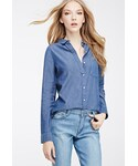 Forever 21 | FOREVER 21 Chambray Button-Down Shirt(シャツ・ブラウス)