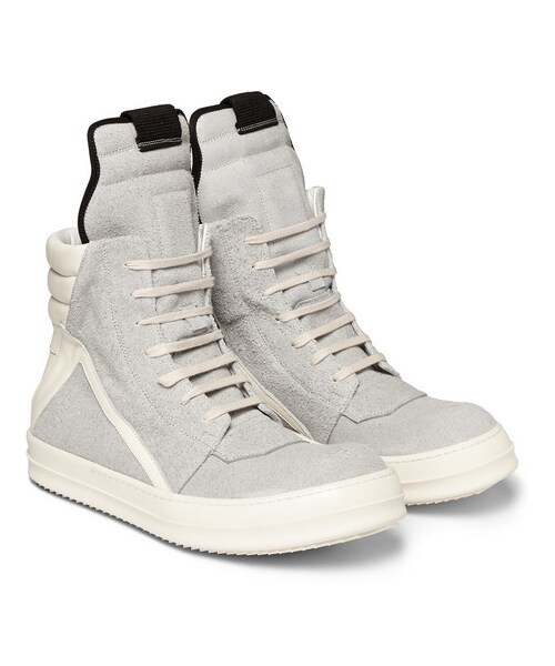 Rick Owens Panelled Suede High Top